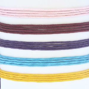Waxed cord, Cotton thread, pink, blue, Diameter 1mm, 5 strings, [ZLX047]